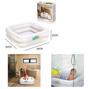 Bestway 86cm x 86cm x 25cm Baby Tub Inflatable Baby Home Bath Tub Paddling Pool