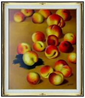 Framed Quality Hand Painted Oil Painting Repro Claude Monet Peaches 20x24in