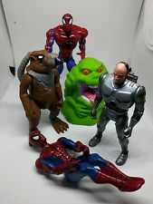 VINTAGE 1980S 90 ORIGINAL TOYS,SPLINTER, SPIDERMAN,ROBOCOP, GHOSBUSTERS FIGURES