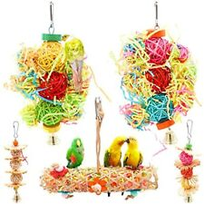 New listing Bac-kitchen Parrot Cage Toys Bird Swing Shredder Foraging Hanging Cage Wood For