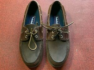 Timberland Mens Boat Shoe Size 9M Brown Leather Loafers 71002 2027