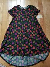 LuLaROE ~ CARLY Dress ~ XXS ~ Green w/ Circles Sz XX-Small NWT ~