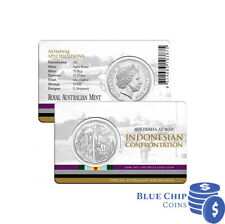 2016 UNC 50c AUSTRALIA AT WAR: INDONESIAN CONFRONTATION COIN ON CARD
