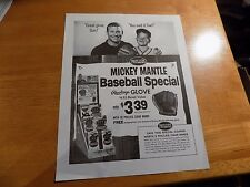1964 MICKEY MANTLE & son Baseball Special Rawlings Glove PHILLIES Cigar AD