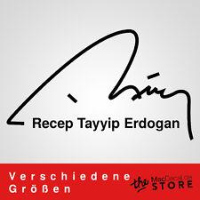 Recep Tayyip ERDOGAN Sticker Aufkleber Auto Autoaufkleber RTE Imza Wandtattoo