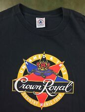 Vintage Mens L 90s Crown Royal Untamed & True Country Music Tour Graphic T-Shirt