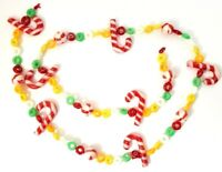 "Christmas Peppermint & Fruities Garland Set of 2 Plastic 45"" Each"