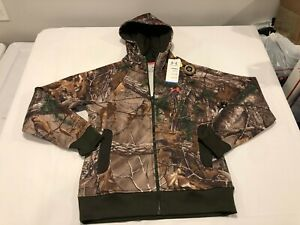NWT $84.99 Under Armour Womens Coldgear Fleece Camo Hoodie Realtree Xtra SMALL