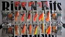 25 Mer Bateau De Pêche Rigs haute qualité professionnelle Rigs 4 dérive et épave Orange
