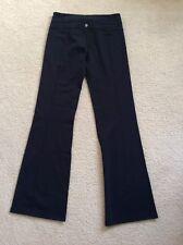 "lululemon Groove Pant Black Size 8 Tall Inseam 34"" Reversible EUC"
