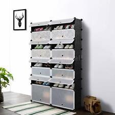 DIY Cube Plastic Shoes Rack 16 Grids Shoes Storage Cabinet CHEST Shelf Dustproof