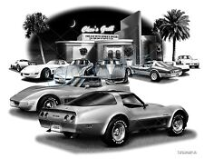 CORVETTE 1981, 1982 Auto Art Car Print  #1022