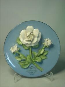 Franklin Mint DIANA PRINCESS OF WALES ROSE Porcelain Sculpture Plate