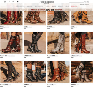 Nwob freebird $350+ Calgary above knee hi genuine leather multicolor sz 9