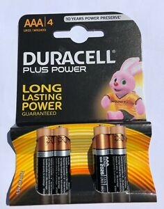 Duracell PLUS Power AAA MN2400/card of 4 Alkaline Batteries
