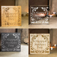 Engraved Mothers Day Coaster ideal gift in slate bamboo glass and wood veneer