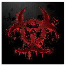 Bloody Biohazard #2 Black Bumper Sticker Decal apocalypse zombie splatter