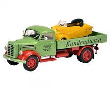 """SCHUCO 450345500 Borgward B2500 """"Messerschmitt-Service"""", 1:43 Spur 0 NEU OVP"""