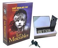 Real Paper Book Locking Booksafe with Key Lock Secret Hidden Safe Les Miserables