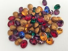30 Mixed Square Rhinestones mostly Swarovski Mixed small sizes REPAIR CRAFT