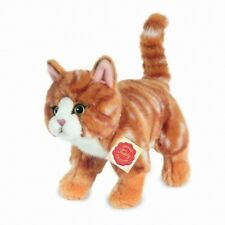 Katze stehend rot 20 cm - Plüschtier - Stofftier - Teddy Hermann - Neu