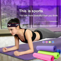 Portable EVA Non-Slip Yoga Mat Exercise Gym Fitness Training Pad Cushion 4mm US