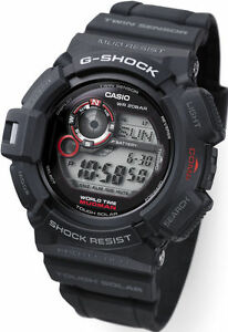 Casio G-Shock Mens Watch Mudman G9300-1  G-9300-1DR Digital Black Free Post
