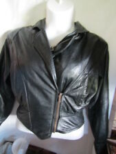 Wilson Leather Womens Raglan Sleeve  Leather Motorcycle Jacket Size Small
