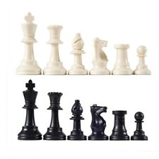 Triple Weighted Chess Pieces – 17 Black Pieces & 17 White Pieces