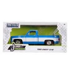 Jada Just Trucks Series: 1985 Chevy C10 Pickup Stock (Blue/White) 1/24 Scale