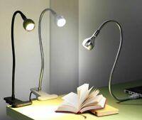 USB Power Clip Holder LED Book Light Desk Lamp 1W Flexible LED Reading Book Lamp