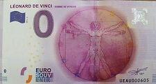 Billet Euro Souvenir leonard de VINCI  -  N° 006034