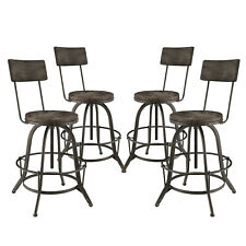 Modway Procure Bar Stool Set of 4 - Black