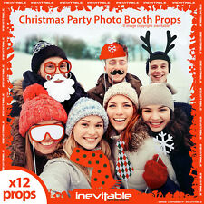 Christmas Party Fun Photo Booth Props Festive Xmas Selfie x 24 Packs 960130