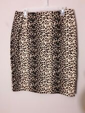 Vintage Allison Taylor Stretch Animal Print Pencil Skirt Size14 Made in USA