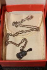 """James Avery Sterling Silver 3D Acoustic Guitar Charm 0.75"""" w/ Chain"""
