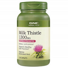GNC Milk Thistle 1300 MG Extra Strength 120 Vegetarian Cap Supports Liver Health