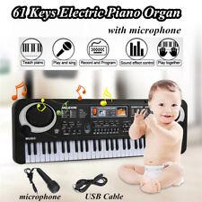 61 Key Digital Electronic Keyboard Electric Piano Organ with Microphone Kid Gift