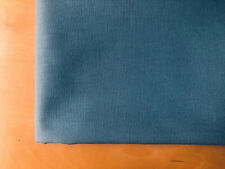 BLUE - Plain Medium Weight Cotton Fabric Dress Curtains - 280 cm Wide Canvas