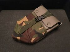 British Army - Entrenching Tool/Folding Shovel & Plastic Hard Case & DPM Pouch
