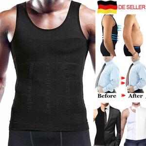 Herren Bauchweg Korsett Shapewear Mieder Weste Abnehmen Unterhemd Muskelshirt DE