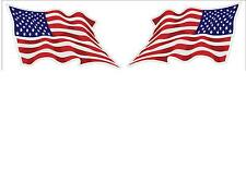 USA American Wavy Flag 1 Pair Decal Stickers LH and RH 3x5 American Pride p135