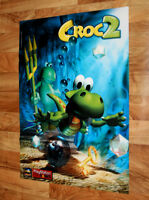 Croc 2 / Mission Impossible very rare Poster 56x79cm PS1 Playstation Game Boy