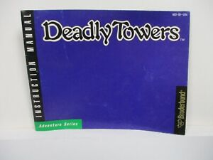 Vintage NES Nintendo Instruction Manual Deadly Towers 1987