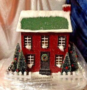 Cracker Barrel Large  Light up Paper Christmas Winter Country Home NIB