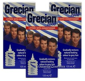 3 Pack Grecian 2000 Colour Lotion 125ml- GENUINE