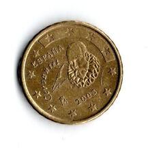 España 10 centavos de euro moneda 2003; Cervantes; Don Quijote; * R