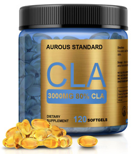 CLA 3000 Conjugated Linoleic Acid CLA 120 Softgels Weight Loss Non-Stimulating