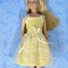 Vintage Skipper Barbie 1904 Yellow Flower Girl Dress 1964 Crisp & Clean EXLNT