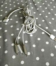 Genuine Apple iPod 30-pin Connector and USB to Component RCA AV Cable